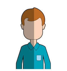 Man with shirt casual cloth vector