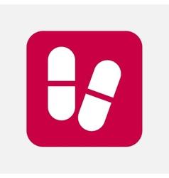 Medicine pill icon vector image vector image