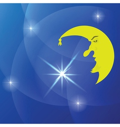 moon background vector image vector image