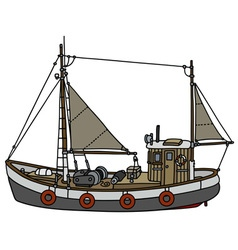 Old fishing cutter vector image vector image
