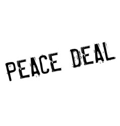 Peace deal rubber stamp vector