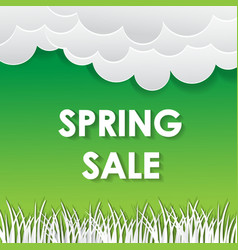 typographic design lettering spring sale banner vector image vector image