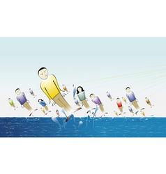 people fishing vector image vector image