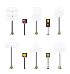 Road wight sign set vector