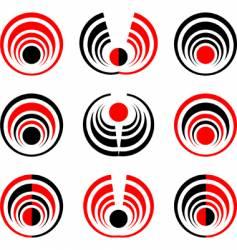 sphere elements set vector image vector image