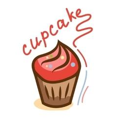 tasty cupcake 1 vector image