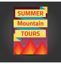 Template placard with mountains vector image