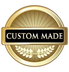 Custom Made Gold Label vector image vector image