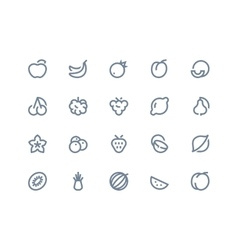Fruits icons Line seris vector image