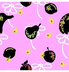 Pink Fruit Pattern vector image vector image