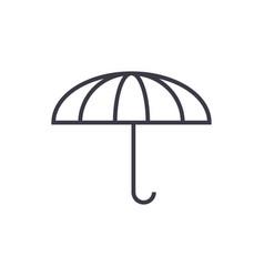 umbrella line icon sign on vector image