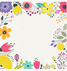 wreath with pastel flowers vector image
