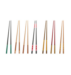 3d chopsticks vector image