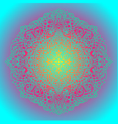 Abstract mandala ornament asian pattern gradient vector