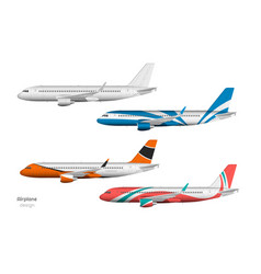 airplane design side view plane vector image