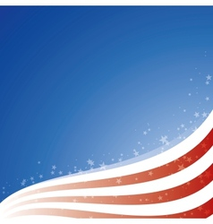 Background USA flag with light and stars vector