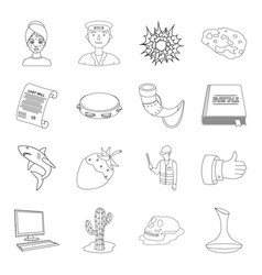 Beauty profession history and other web icon in vector