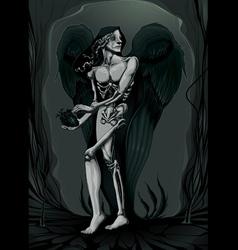 birth of evil vector image