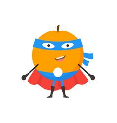cartoon superhero character orange flat design vector image