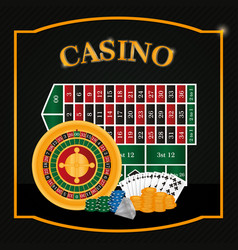 casino game emblem vector image