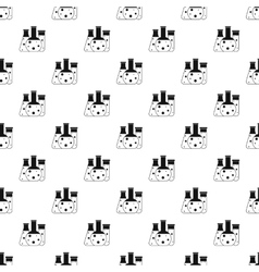 Chemical laboratory flasks pattern simple style vector