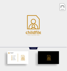 Children care bacare logo template vector