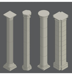 Classical columns isometric vector image