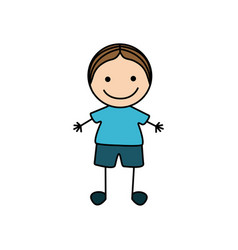 colorful hand drawing cute boy icon vector image