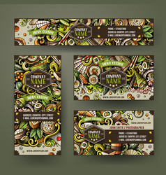 Corporate identity templates set design vector