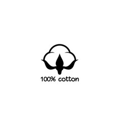 Cotton seed icon 100 label natural fiber vector