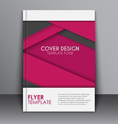 Cover design in the material style vector