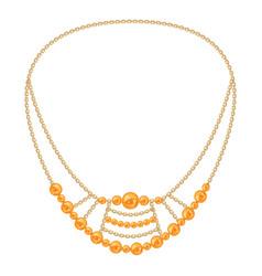 Cute gemstone necklace icon cartoon style vector
