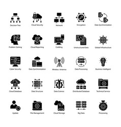 Data science icons vector