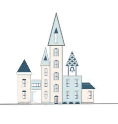 Decorative houses with turrets vector