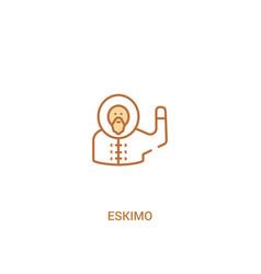 Eskimo concept 2 colored icon simple line element vector