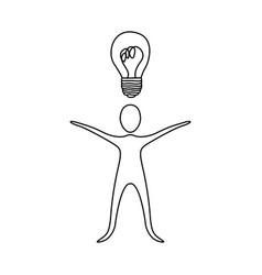Figure person that have a good idea icon vector