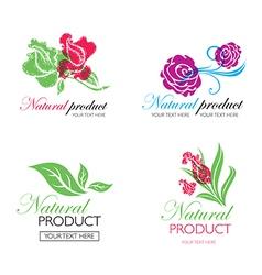 flower logo 8 vector image
