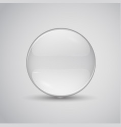 Glass lens transparent flat vector