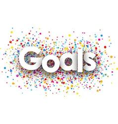 Goals paper banner vector