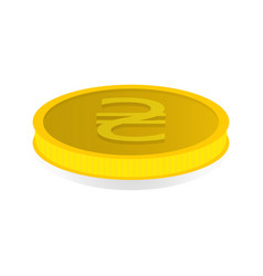 gold coin with the symbol of the hryvnia vector image