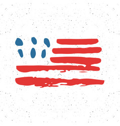 grunge hand drawn usa flag american abstract vector image
