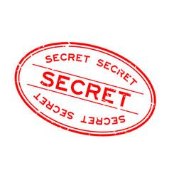 grunge red secret word oval rubber seal stamp on vector image