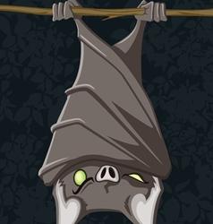 hanging bat vector image