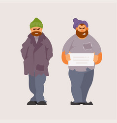 homeless people vector image