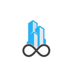 infinity real estate logo icon design vector image