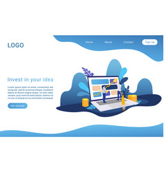 Invest in your idea landing page isometric vector