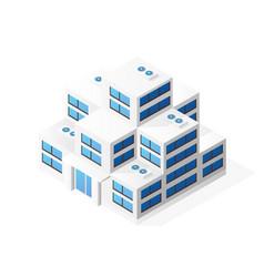 isometric house building skyscraper concept vector image