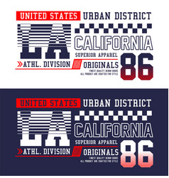 la california t-shirt graphics typography vector image