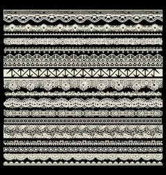 Lace trims vector image