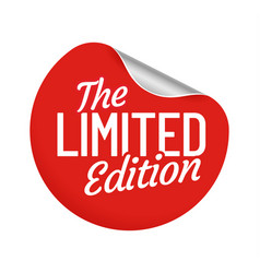 limited edition round label sticker seller offer vector image